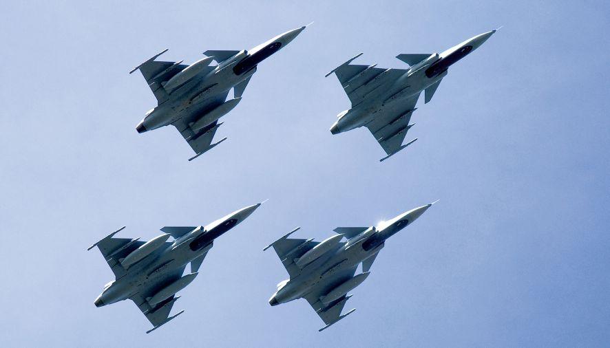 Formação Gripen - foto copywright SAAB AB