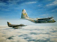 A-4 avariado e C-130 nas Malvinas - Carlos A Garcia
