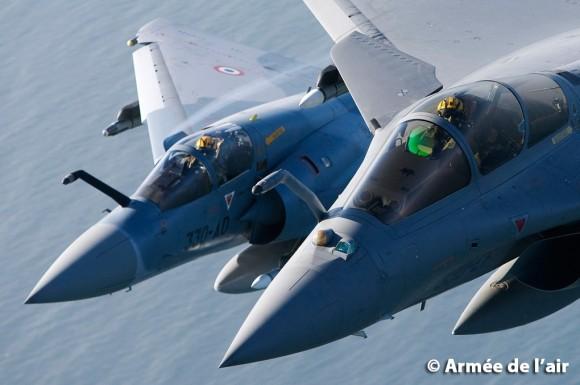 Mirage 2000 e Rafale - foto Armee de lair