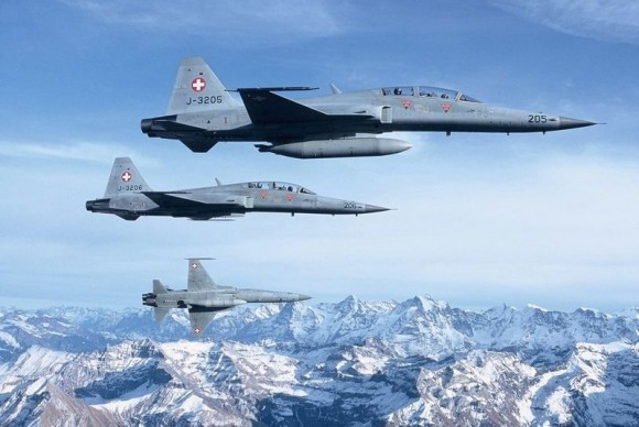 F-5 suíços - foto Força Aérea Suíça
