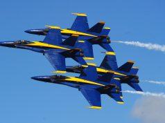 F-18 Hornets do Blue Angels