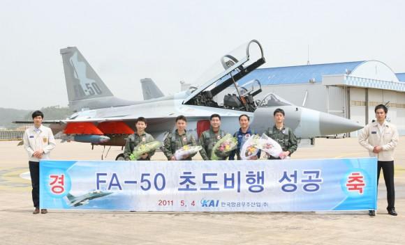 Primer vuelo del FA-50 de Corea del Sur. FA-50-1-580x352