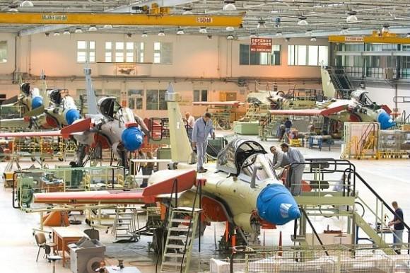 Rafale - linha de montagem - foto Dassault