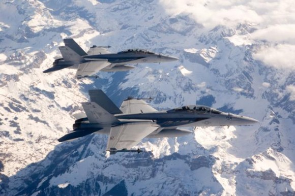 Elemento de F-18 F Super Hornet - foto Boeing