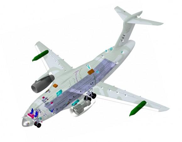 KC-390 em corte - imagem Embraer