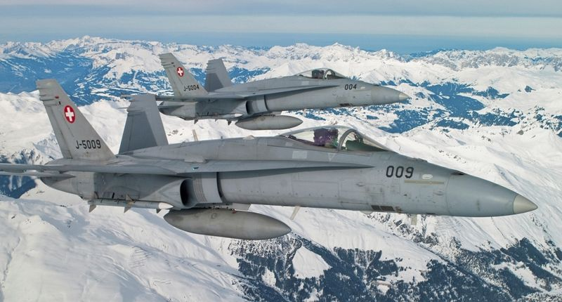 F-18 Hornet - foto Força Aérea Suíça