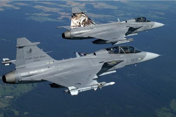 caças Gripen da República Tcheca - foto Saab