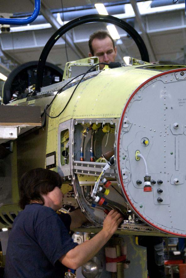 Gripen na linha de produção - foto 3 Saab