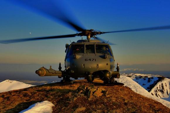 HH-60G Pave Hawk em treino de pouso em altitude - foto USAF