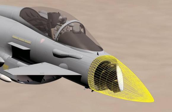 Radar Captor E em radome de Typhoon - imagens via Eurofighter