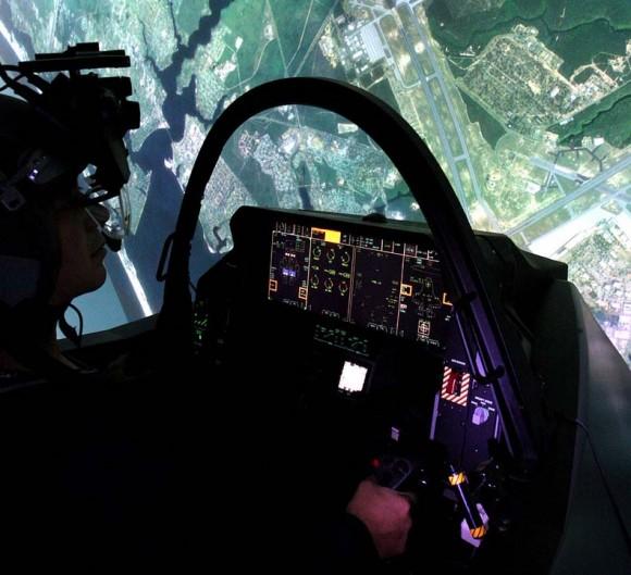 Simulador do F-35 - foto Lockheed Martin