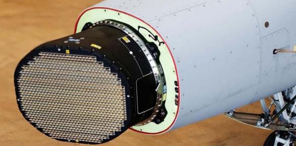 Gripen com Raven ES-05 AESA - ampliação foto SAAB