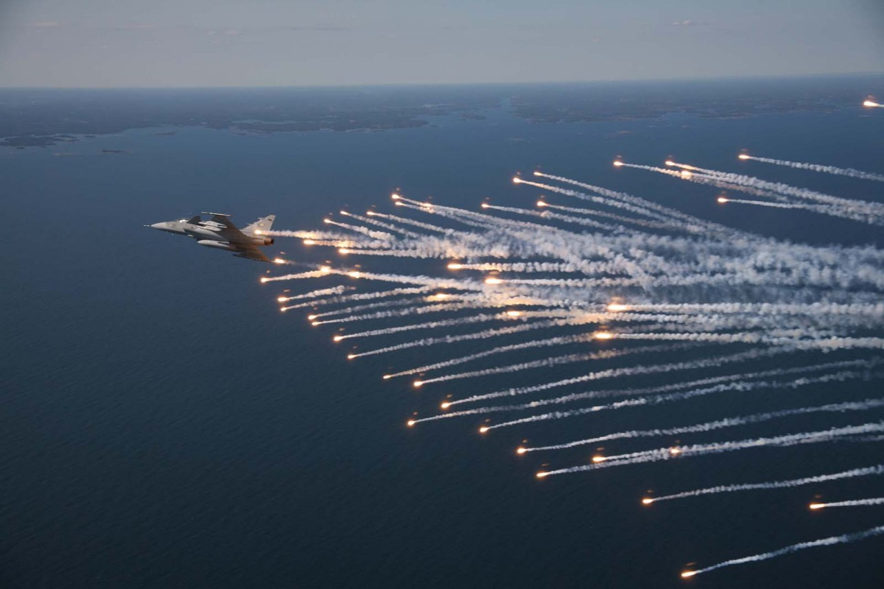 Gripen Flares - foto Saab