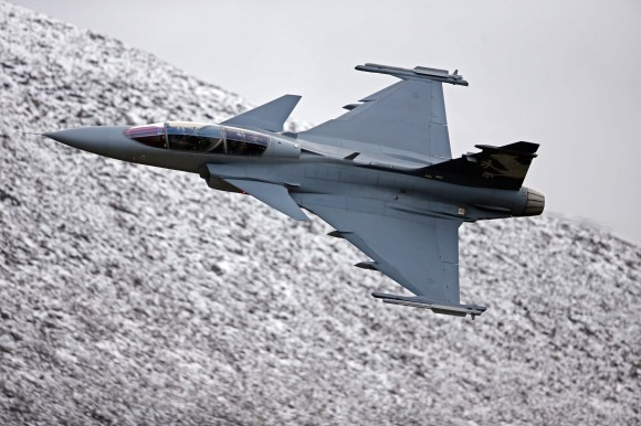 Gripen em Axalp tamanho grande - foto Saab