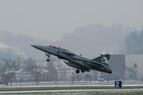demonstrador do Gripen NG na Suica 2 - foto governo suico