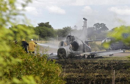 A-4AR queda - FOTO AFP