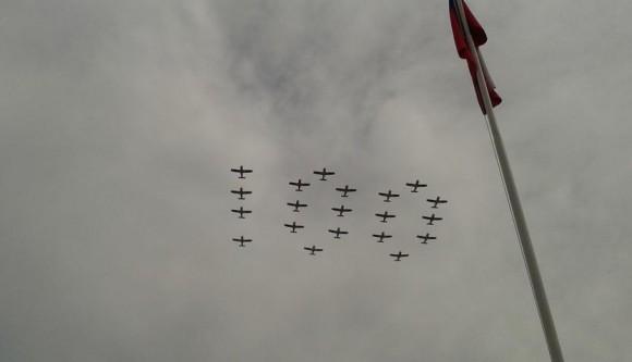 100 anos aviação militar chilena - foto via FAB