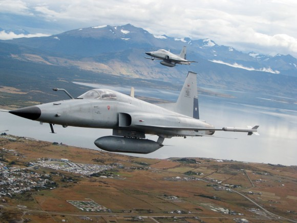 F-5 Tiger III - foto Força Aérea do Chile - FACh