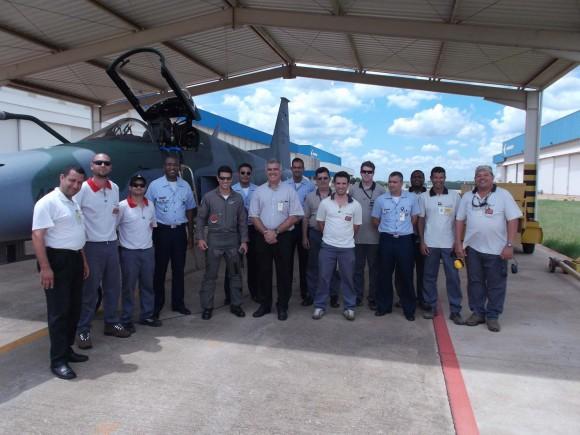 F-5EM 4846 em Gavião Peixoto - último F-5M do lote 1 recebido pela FAB - foto FAB