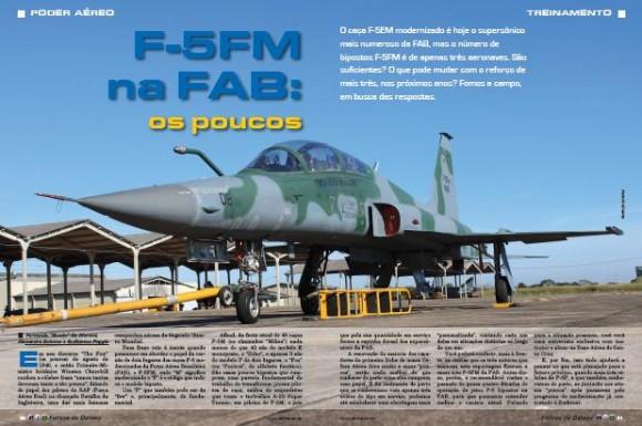 F-5FM na FAB os poucos - matéria Forças de Defesa pág abertura