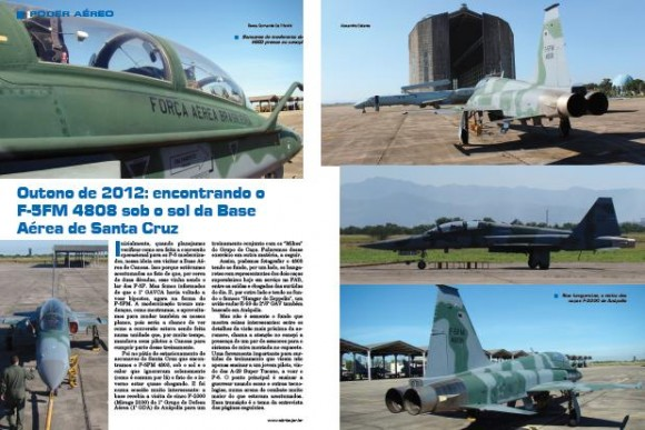 F-5FM na FAB os poucos - matéria Forças de Defesa pág miolo 2