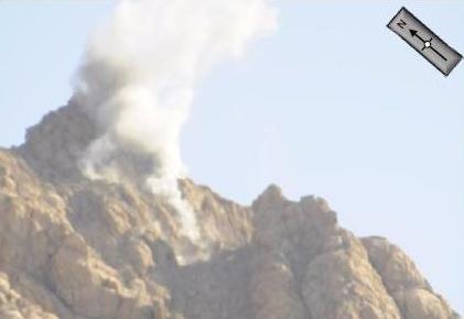 Imagem de ataque de AMX italianos em close - foto Força Aérea Italiana