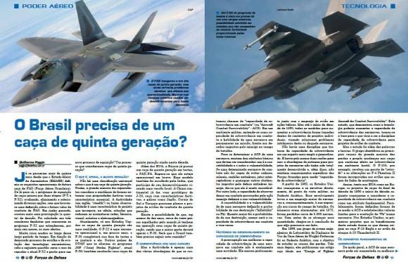 matéria caça quinta geração Forças de Defesa 5
