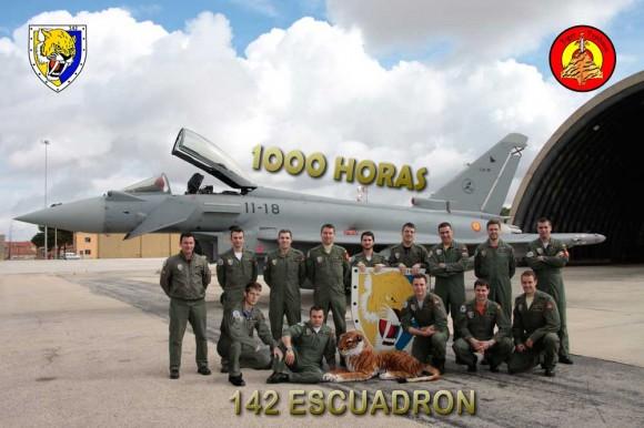 1000 horas de Eurofighter C16 na Ala 14 de Albacete - foto Força Aérea Espanhola