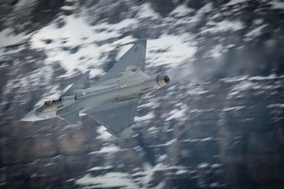 Testes de canhão do Gripen C - foto 2 Depto de Defesa da Suíça