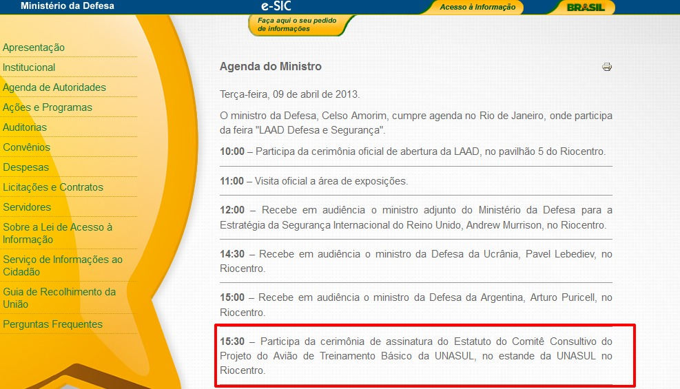 agenda midef terca-feira 9 de abril de 2013