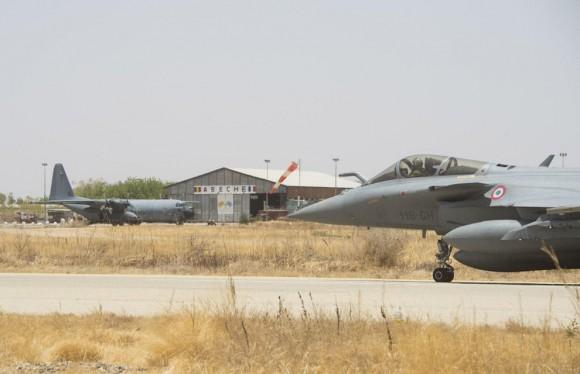 Caças Rafale desdobrados em Abéché no Chade - foto 3 Força Aérea Francesa