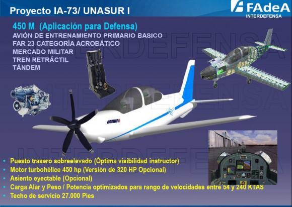 IA-73 UNASUR I - conceito com motor turboélice - imagem via Interdefensa