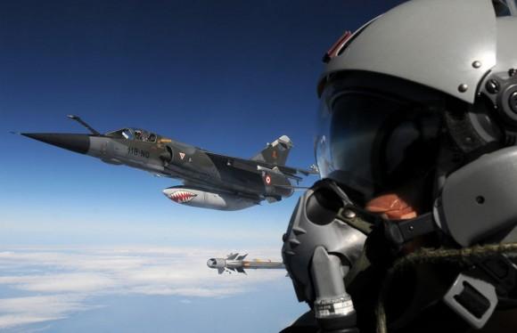 Jatos Mirage F1CR franceses em voo - foto MD França