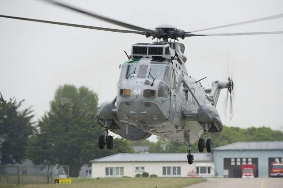 Sea King britânico na Semana de Defesa Aérea - foto Marinha Francesa