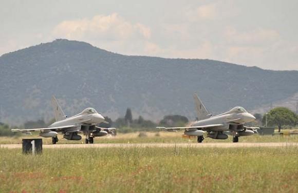 Caças Eurofighter italianos deslocaram-se para a Islândia - foto 2 Força Aérea Italiana