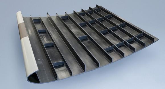 Clean Sky - estrutura integrada a painel de asa - foto Saab