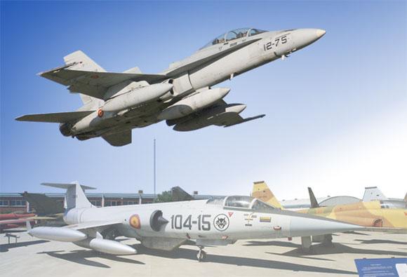 F-18 e F-104 - fotomontagem Força Aérea Espanhola