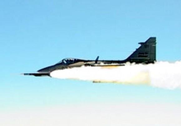 Gripen dispara Meteor - foto Saab