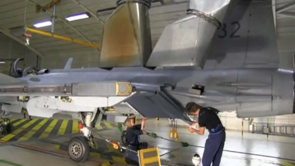 Inspeção em Gripen tcheco - cena 3 de vídeo da FMV