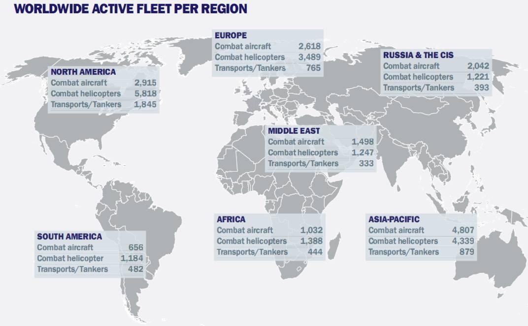 frotas aereas por regiao 2013