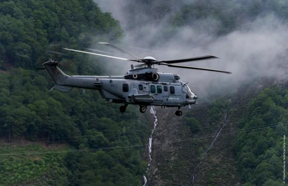 Inondations en région Pyrénées. Soutien des armées à la population sinistrée.