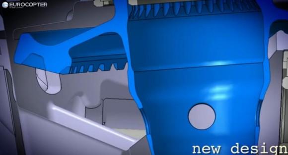 Novo design de eixo EC225 - cena vídeo Eurocopter
