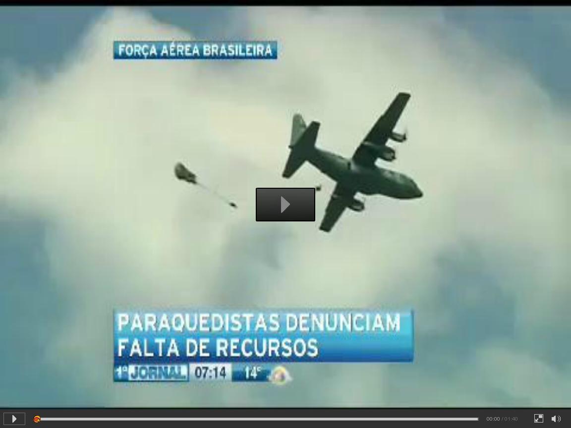 denuncia de paraquedista da FAB