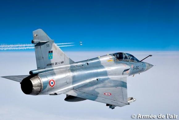 Mirage 2000 B do esquadrão Ile de France - foto Força Aérea Francesa