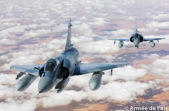 Mirage 2000 C do esquadrão Ile de France - foto Força Aérea Francesa