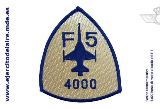 Bolacha comemorativa 4000 horas de F-5 - foto Força Aérea Espanhola - Ejercito del Aire