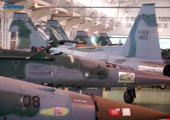 Caças F-5M em revisão no PAMA-SP - Domingo Aéreo 2013 - Foto 2 Nunão - Poder Aéreo - Forças de Defesa