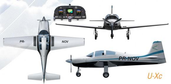 U-Xc - três vistas e painel - imagem Novaer