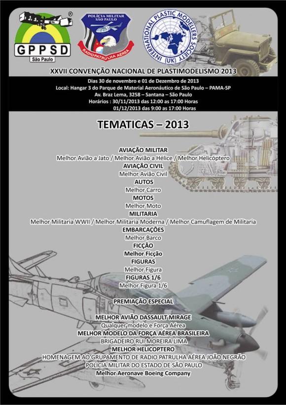 XXVII CONVENÇÃO NACIONAL DE PLASTIMODELISMO 2013