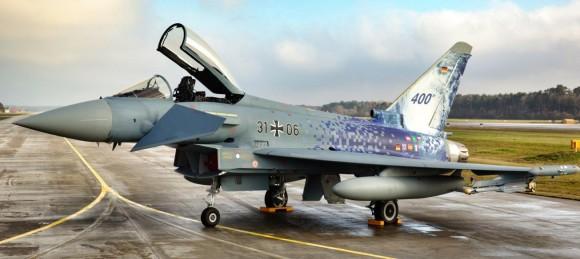 Eurofighter Typhoon - 400 entregues - marcas da Força Aérea Alemã - foto Eurofighter